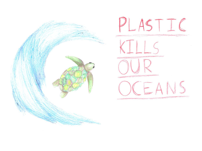 Plastic kills our oceans by Amy, 13
