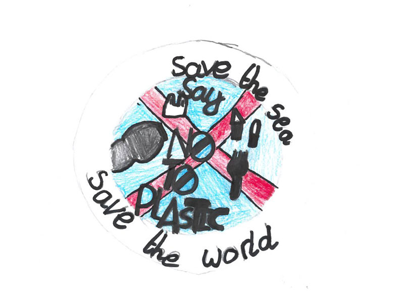 Save the sea. Say no to plastic. Save the world by Billy, 12