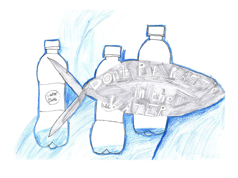 Don't put plastic in the water by Craig, 12