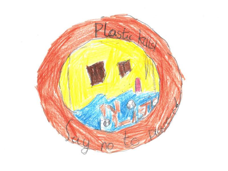 Plastic kills, say no to plastic! by Harrison, 12