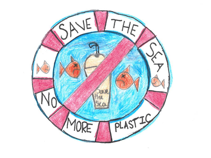 Save the sea, no more plastic by Harry, 12