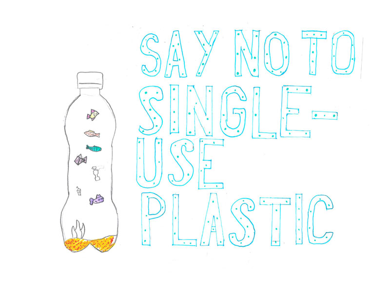 Say no to single-use plastic by Isobel, 12